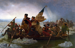 Washington Crossing the Delaware                                                 during the                                 New York and New Jersey campaign                                , winter 1777