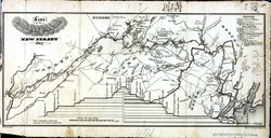 A map of the 107-mile long                                 Morris Canal                                across northern New Jersey