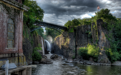 The                                 Great Falls                                of the                                 Passaic River                                in                                 Paterson                                , dedicated as a                                 U.S. National Park                                in November 2011, incorporates one of the largest                                 waterfalls                                in the eastern United States.                                                   [5]
