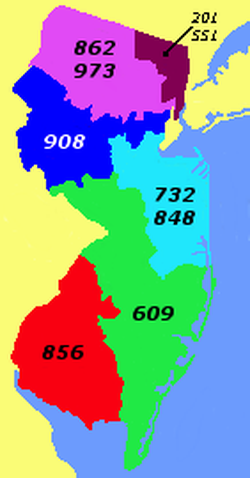 New Jersey's area codes