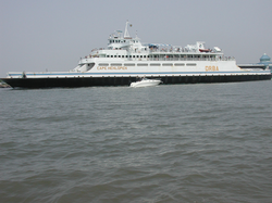 The                                 Cape May-Lewes Ferry                                connects New Jersey and                                 Delaware                                across the                                 Delaware Bay