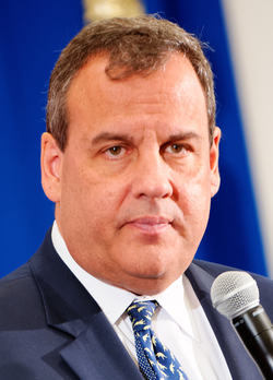 Chris Christie                                                 (R)                                , the                                 55th                                and current                                 Governor of New Jersey