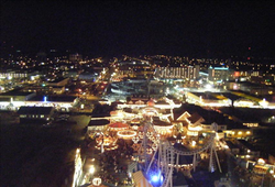 View of                                 Wildwood                                ,                                 Cape May County                                from the Mariner's Landing Ferris wheel at night