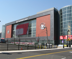 The                                 Prudential Center                                in Newark, home of the NHL's New Jersey Devils