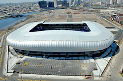 Red Bull Arena                                in                                 Harrison                                , home of the MLS's New York Red Bulls