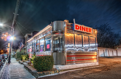 A 1950s-style diner in                                 Orange