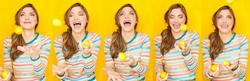 Kathy juggling