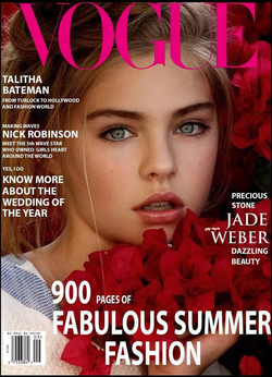Jade Weber on the cover of  Vogue
