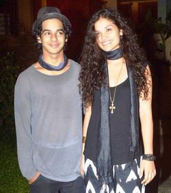 Ishaan Khattar with Ayesha Kapur