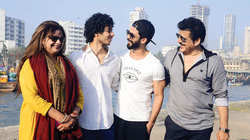 Ishaan Khattar with his family