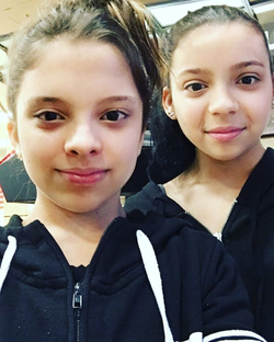 Jayce with her twin Sister,  Cree Cicchino. [4]