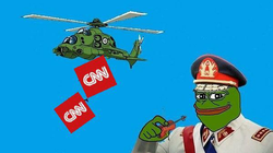 Pinochet Pepe throwing CNN out of a helicopter