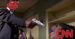 Pulp Fiction meme of Pepe vs CNN