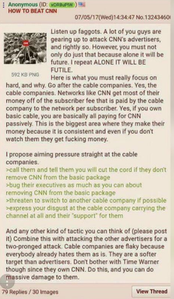 A proposal to call cable companies to block CNN