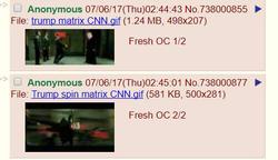 Trump Matrix memes receive dubs on4chan