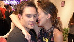 Jessica Serfaty with Ed Westwick​ at a red carpet event.