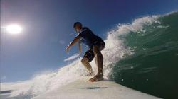 Matt Ganzak surfing in                               Costa Rica                              