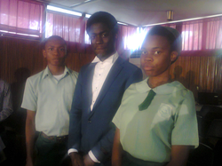 Dr. Hallowed Olaoluwa with Students of Kuramo Snr. College, V.I, Lagos