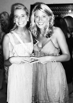 Photo of Lauren when she was in college at a sorority party.
