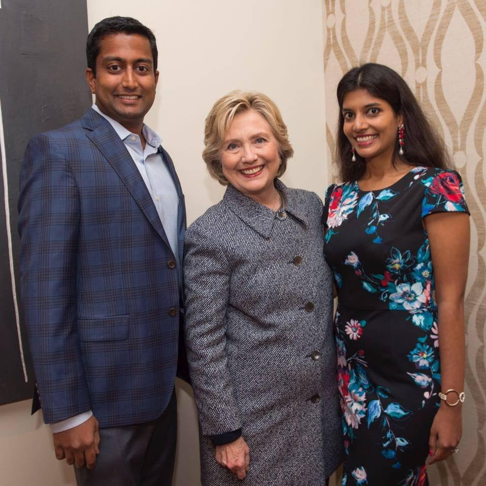 Shradha Her Husband And Hillary Clinton