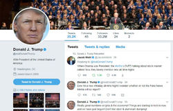 His presidential retweet.