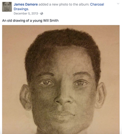 A drawing of Will Smith​