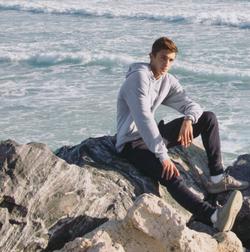 Anton near the ocean