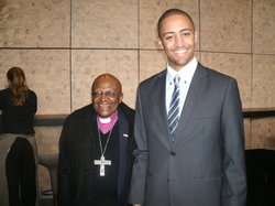 Yannick can den Bos and Desmond Tutu​