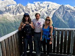 Sarah with brother and grandfather in       Chamonix, France      ​