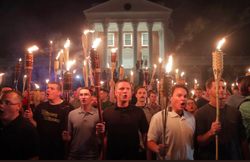 Men with tiki torches