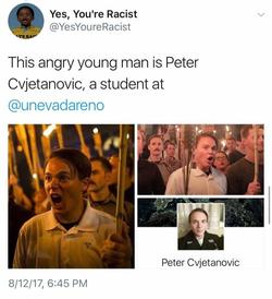 Peter Cvjetanovic identified on Twitter