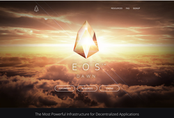 The homepage of EOS (October 2017)