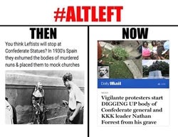 Then and now of the alt left