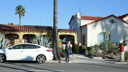 The home of Doria Ragland which is located in Crenshaw, Los Angeles.