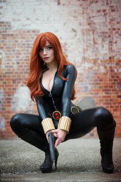 Katyuska Moonfox as the Black Widow (Marvel Comics)