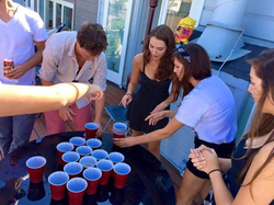 Playing flip cup