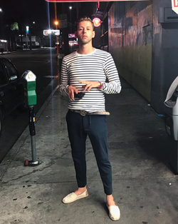 Standing on the block