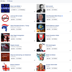 Jennifer Bush's likes on Facebook​ part 1