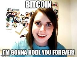 Creepy Girlfriend HODL meme