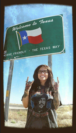 Photo of Katie Layne in Texas.