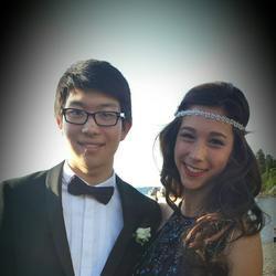 Phillip Liu with a friend (prom photo)
