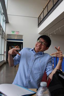 Phillip Liu studying hard in Cornell