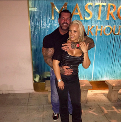 Sara Piana with Rich Piana; they just started dating at the time this picture was taken