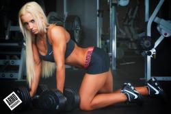 Sara Piana posing during a workout