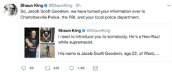 Twitter​ post by by Shaun King about Jacob Scott Goodwin.