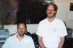 Stephen Paddock (right) with his brother Eric Paddock