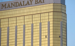 Photo of Mandalay Bay hotel, where the shooting took place