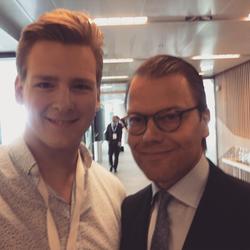 Ivan with Prince Daniel