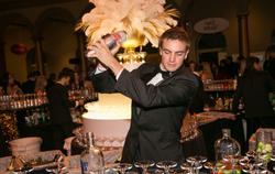 Dylan bartending