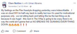 E-Class's Facebook post after The Hoodies' video of them freestyling went viral (November 2, 2017)